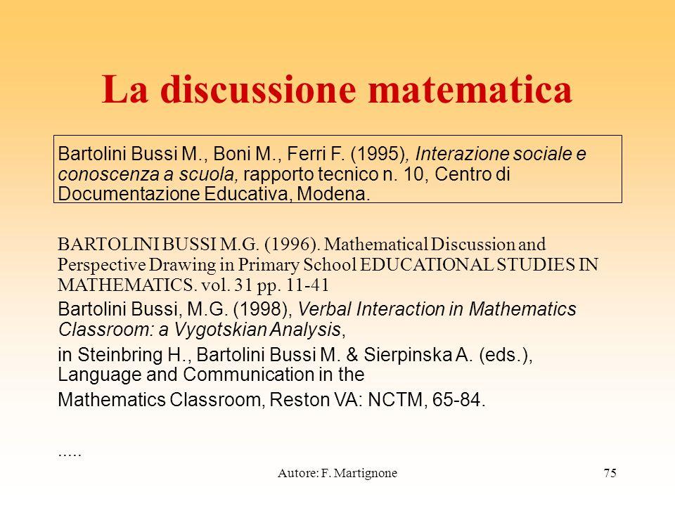 Bartolini Bussi M., Boni M., Ferri F.