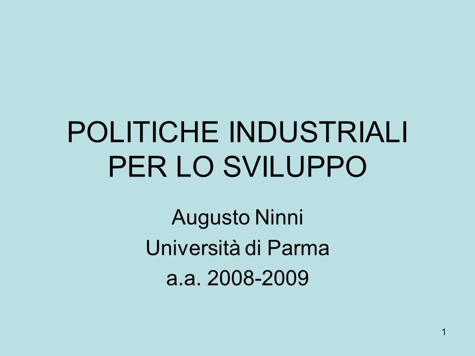 2 Aspetti storici della Politica Industriale in Italia
