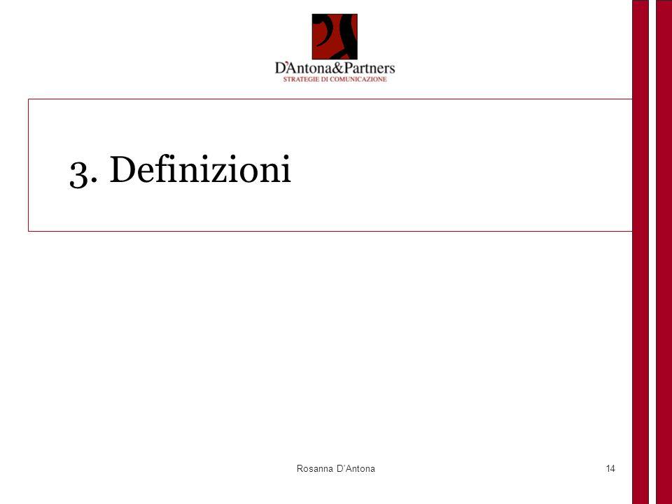 Rosanna D'Antona14 3. Definizioni