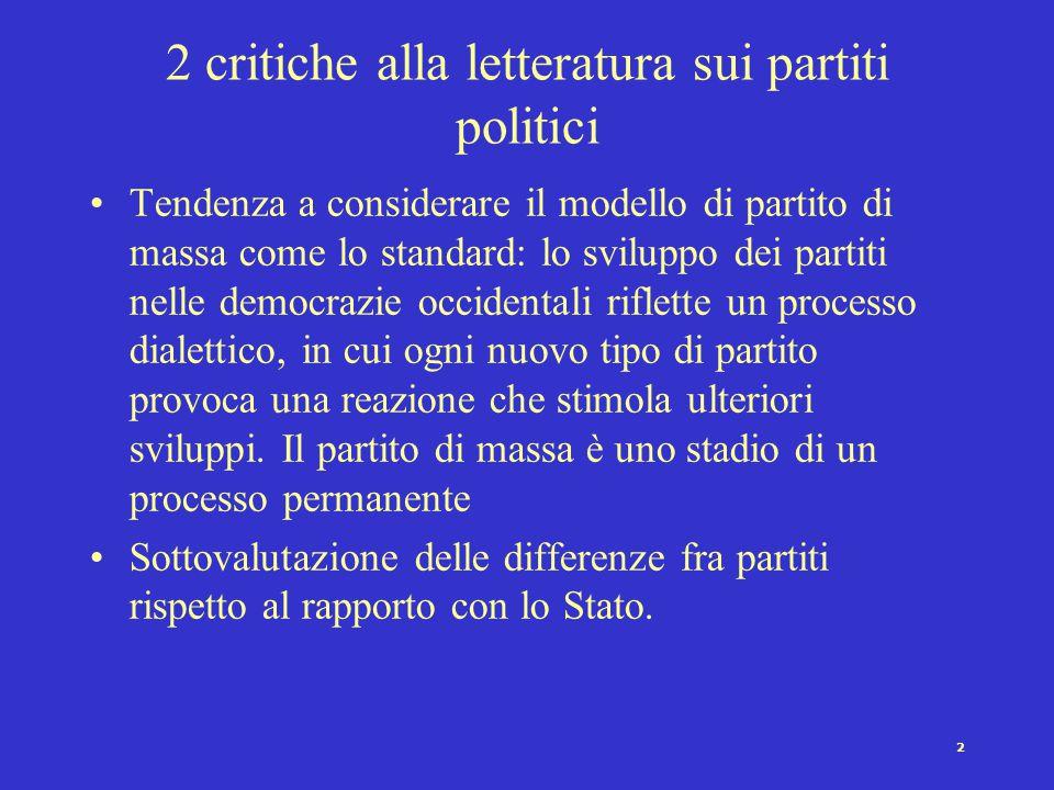 12 Cartel Party e democrazia L'essenza della democrazia diventa la capacità dei cittadini di scegliere da un menu fisso di partiti politici.