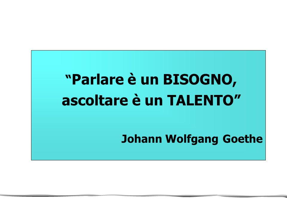 """"""" Parlare è un BISOGNO, ascoltare è un TALENTO"""" Johann Wolfgang Goethe"""