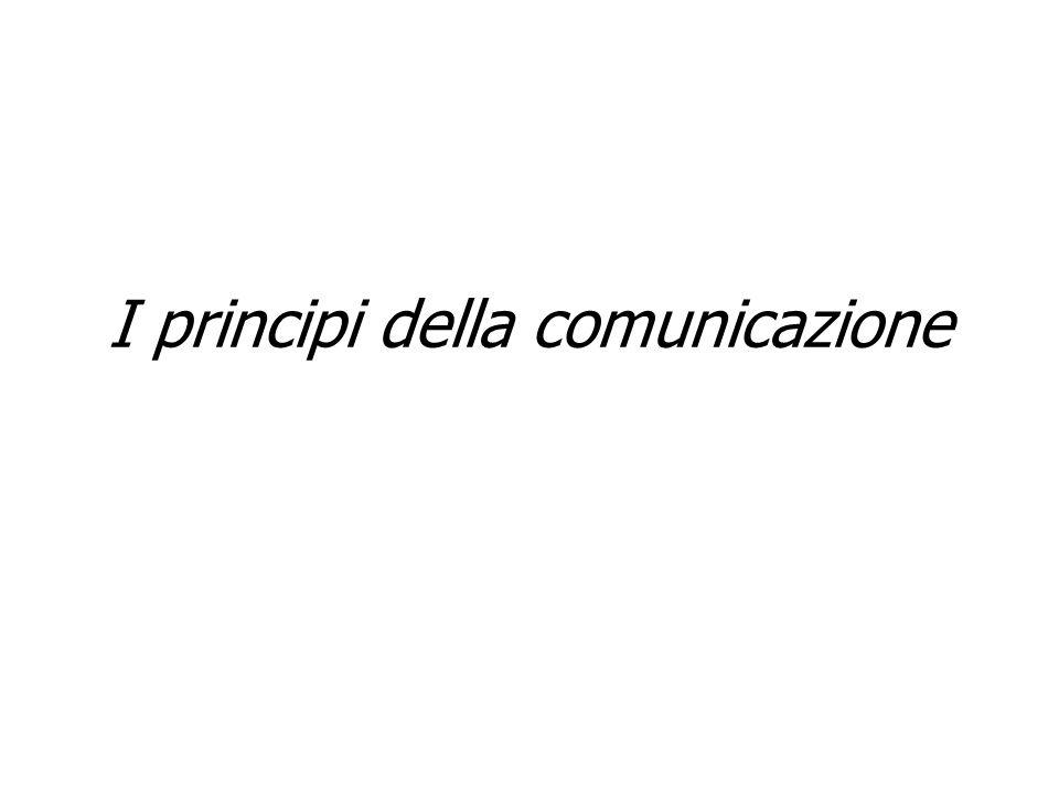 Gli assiomi della comunicazione Assioma 3: Ogni comunicazione ha un suo aspetto di contenuto ed un suo aspetto di relazione: l aspetto di relazione classifica l aspetto di contenuto. INTERAZIONECOMUNICAZIONECOMPORTAMENTO Influenzano gli altri Provocano comportamenti reattivi Attività/inattività Silenzio/parole