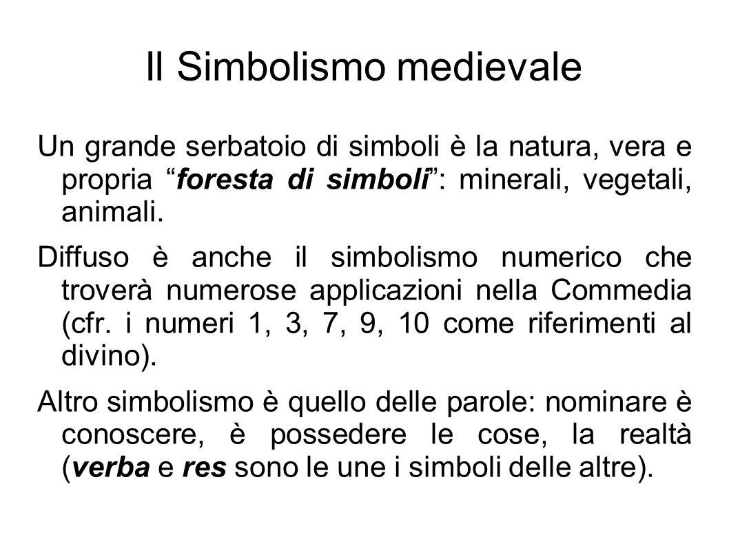 """Il Simbolismo medievale Un grande serbatoio di simboli è la natura, vera e propria """"foresta di simboli"""": minerali, vegetali, animali. Diffuso è anche"""