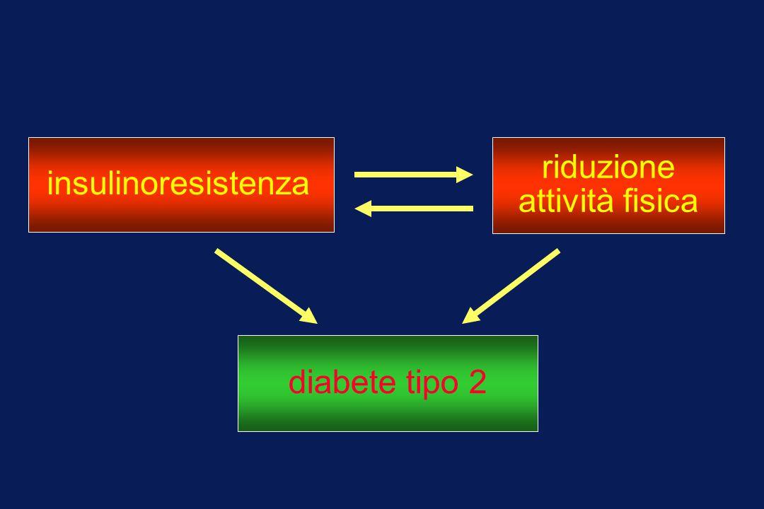 insulinoresistenza riduzione attività fisica diabete tipo 2