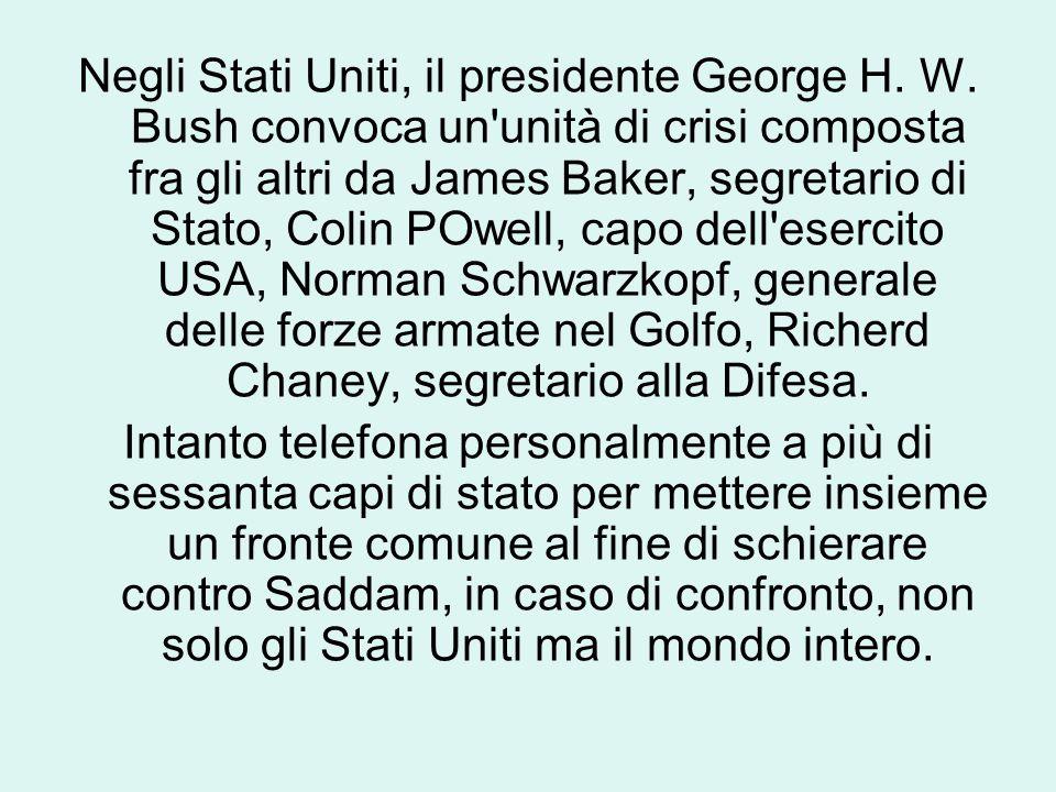 Negli Stati Uniti, il presidente George H. W.