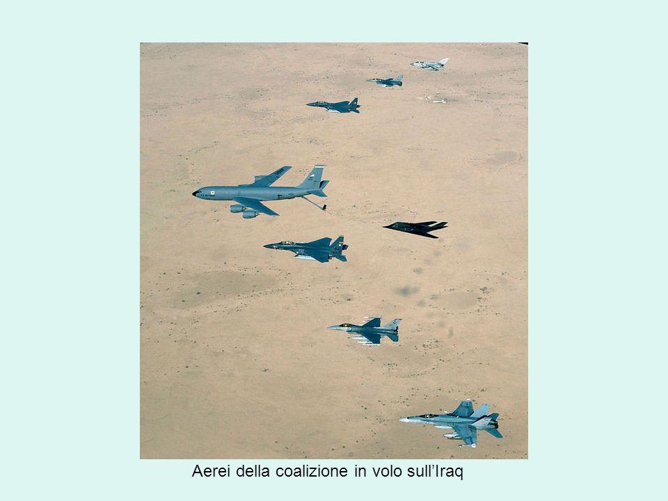 Aerei della coalizione in volo sull'Iraq