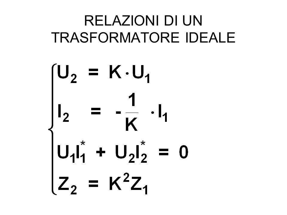 RELAZIONI DI UN TRASFORMATORE IDEALE