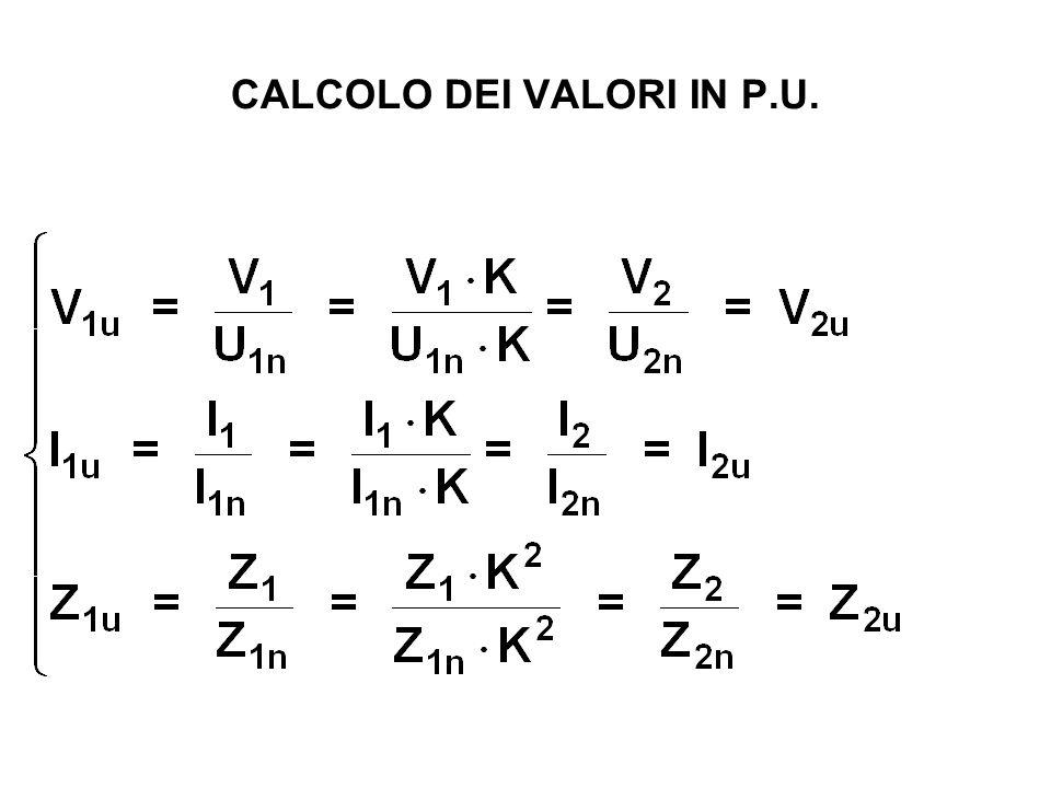 CALCOLO DEI VALORI IN P.U.