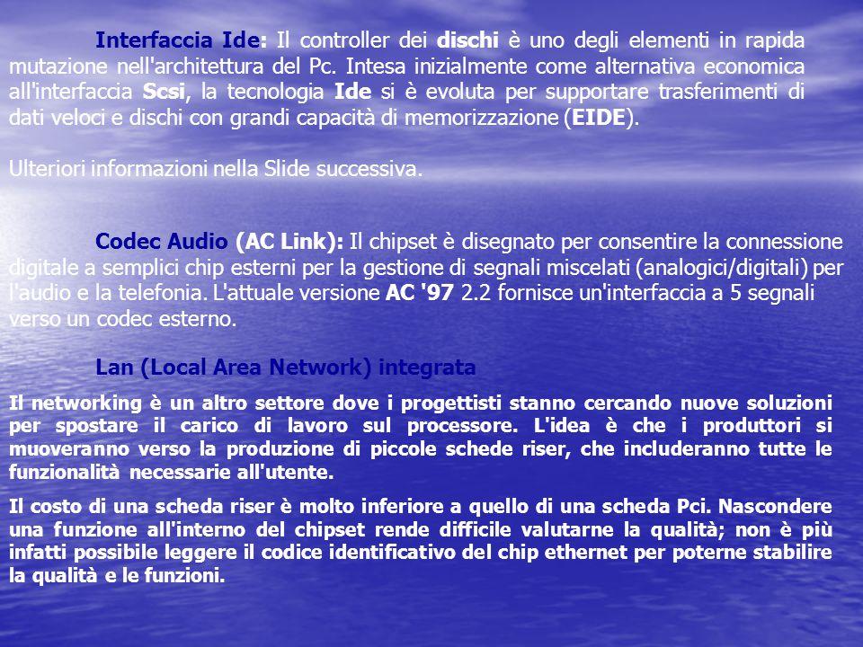 Interfaccia Ide: Il controller dei dischi è uno degli elementi in rapida mutazione nell'architettura del Pc. Intesa inizialmente come alternativa econ