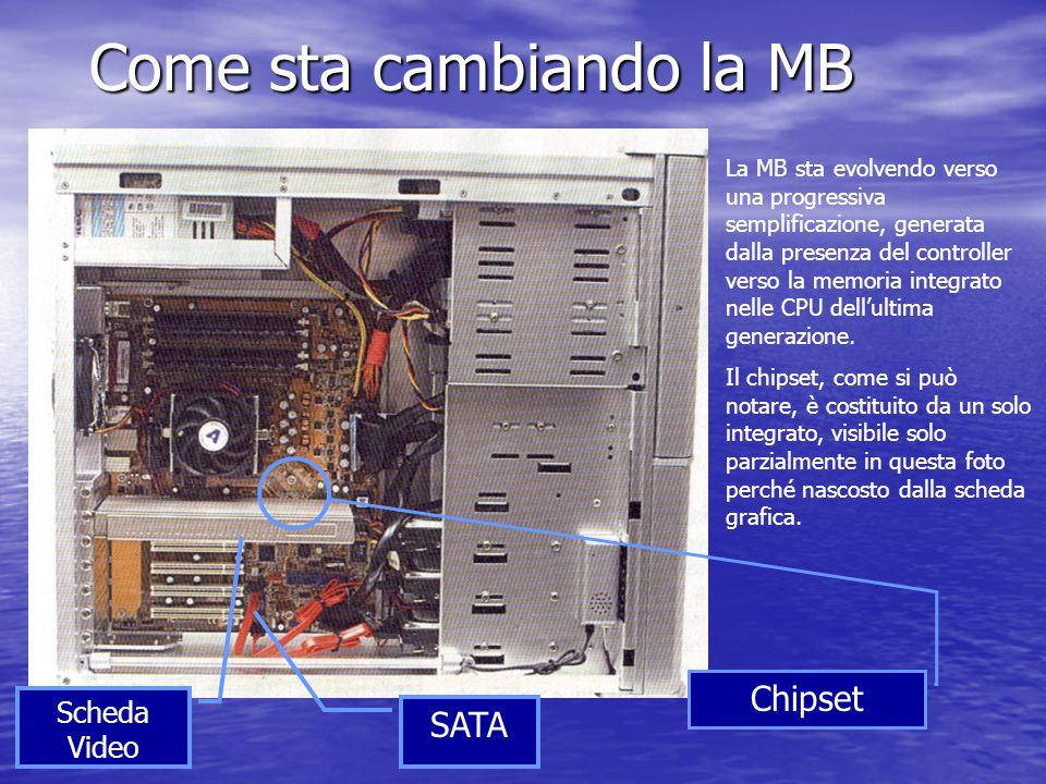 Come sta cambiando la MB La MB sta evolvendo verso una progressiva semplificazione, generata dalla presenza del controller verso la memoria integrato