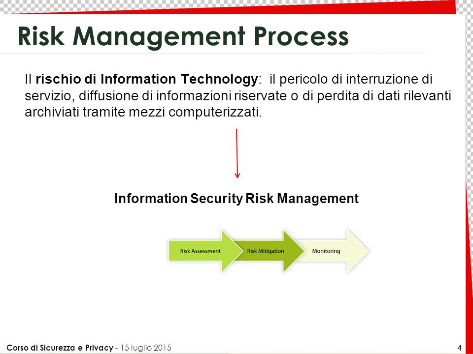 Corso di Sicurezza e Privacy - 15 luglio 2015 35 Indici: ALE 35 The Annualized Loss Expectancy (ALE) is the annually expected financial loss of an enterprise that can be ascribed to a threat and can be computed by using the following formula: where:  the Annualized Rate of Occurrence, (ARO) is a number that represents the estimated number of annual occurrences of a threat.