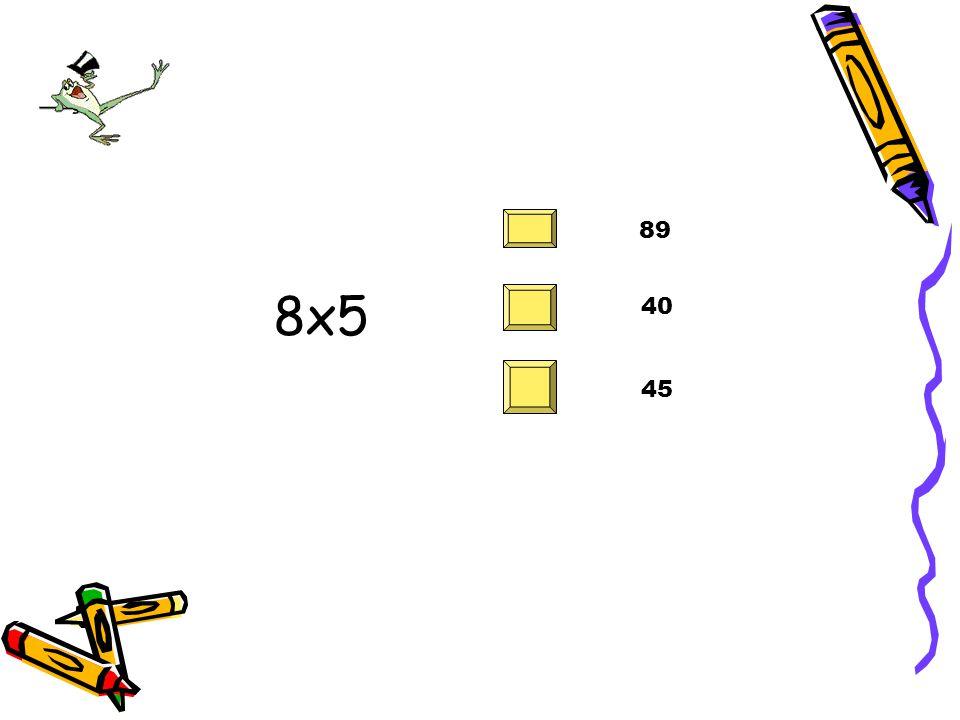 81 è uguale a: 9x9 9x7 9x8