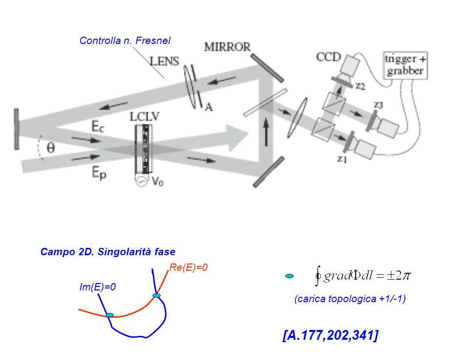 Re(E)=0 Im(E)=0 Campo 2D. Singolarità fase Controlla n.
