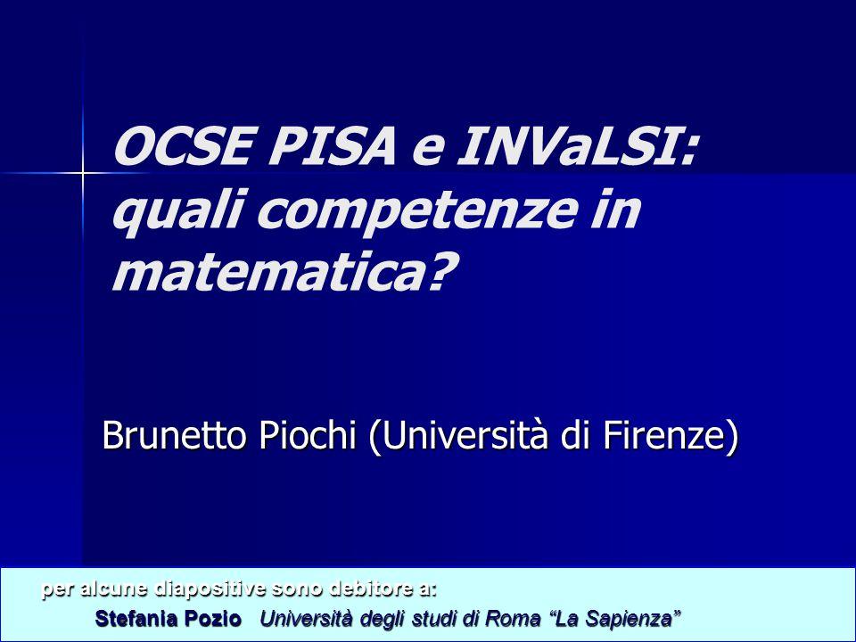 OCSE PISA e INVaLSI: quali competenze in matematica.
