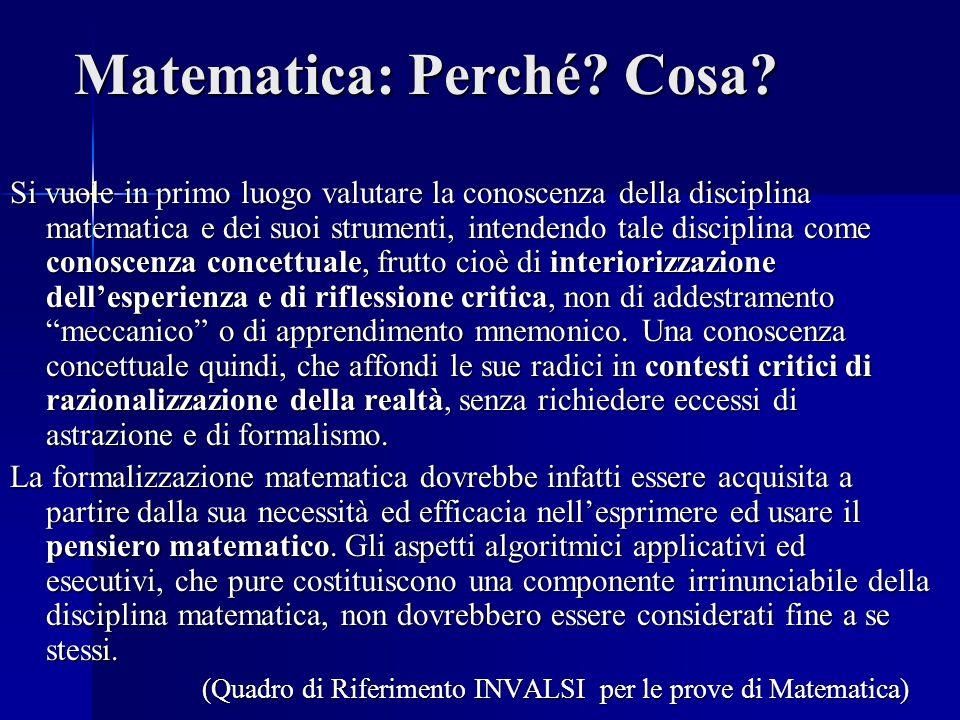 Matematica: Perché.Cosa.