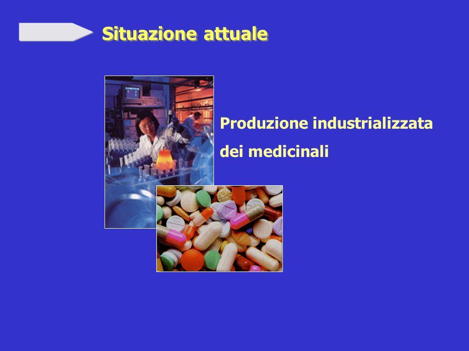 Situazione attuale Produzione industrializzata dei medicinali