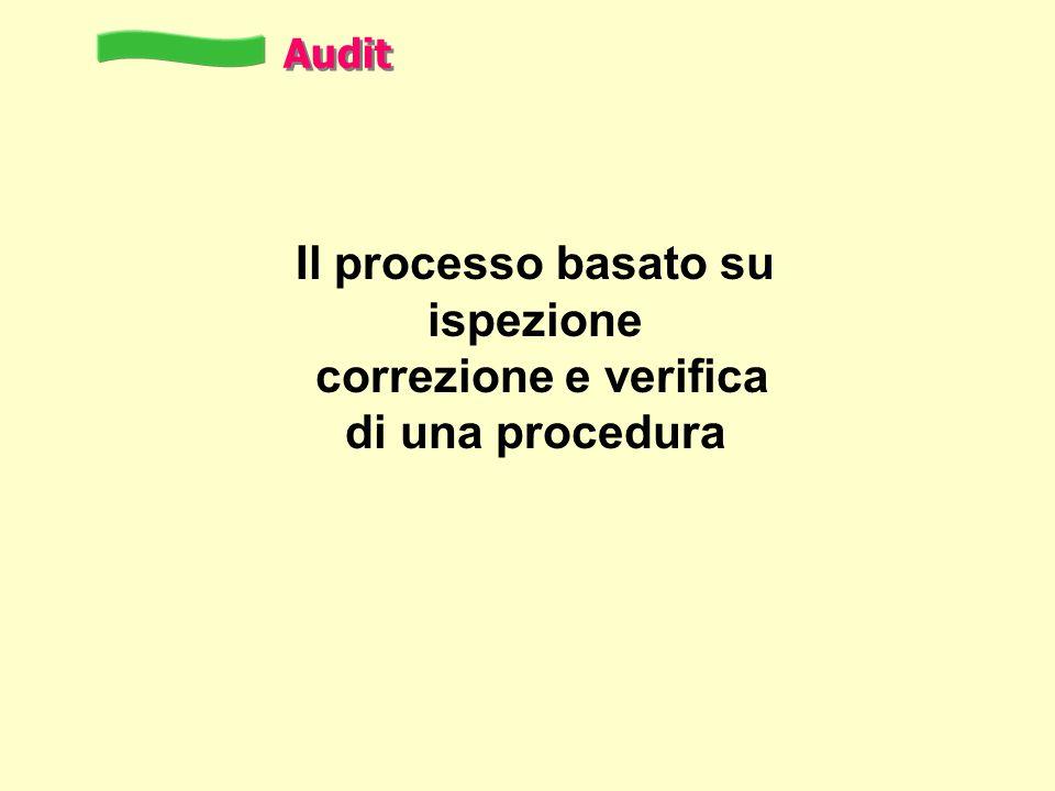 Il processo basato su ispezione correzione e verifica di una procedura Audit