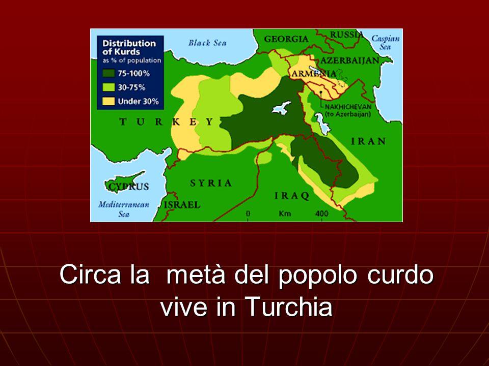 Circa la metà del popolo curdo vive in Turchia