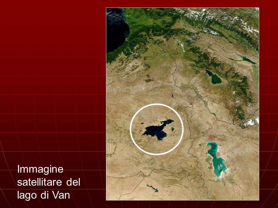 Immagine satellitare del lago di Van