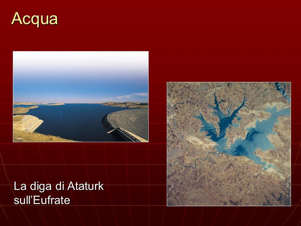 Acqua La diga di Ataturk sull'Eufrate