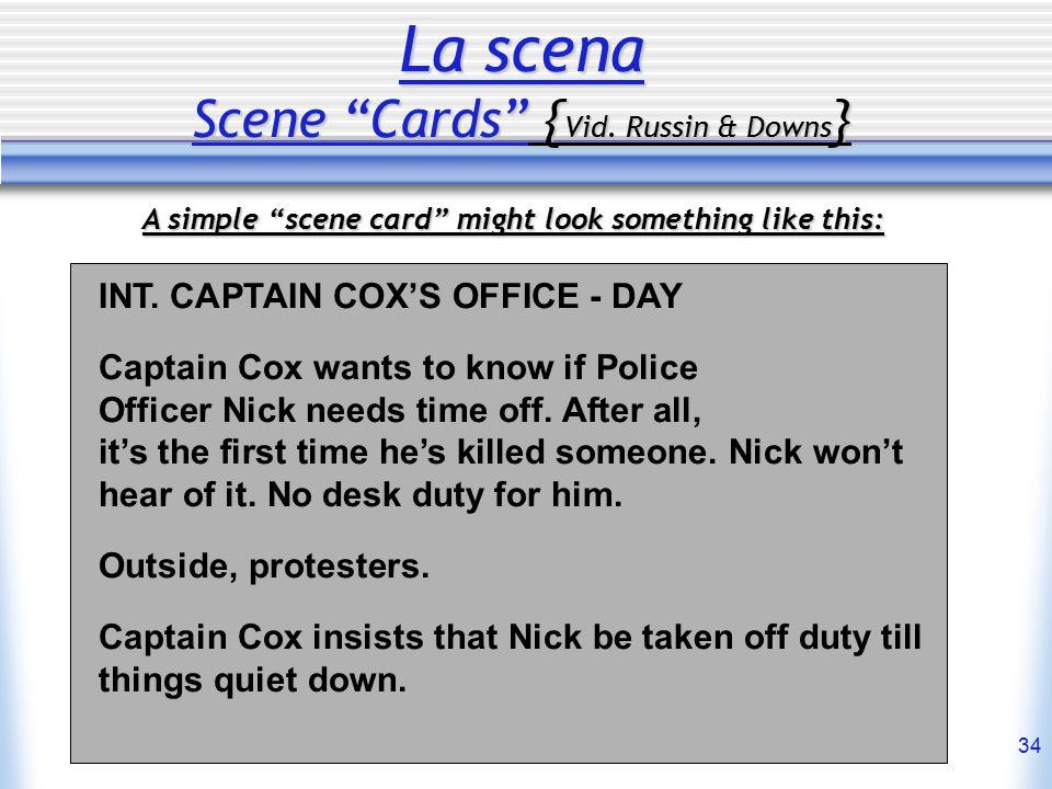 34 La scena Scene Cards { Vid.