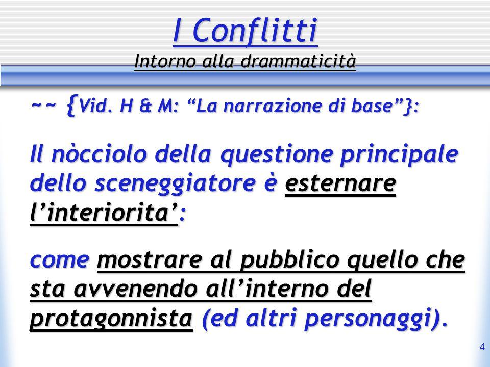 4 I Conflitti Intorno alla drammaticità ~~ { Vid. { Vid.