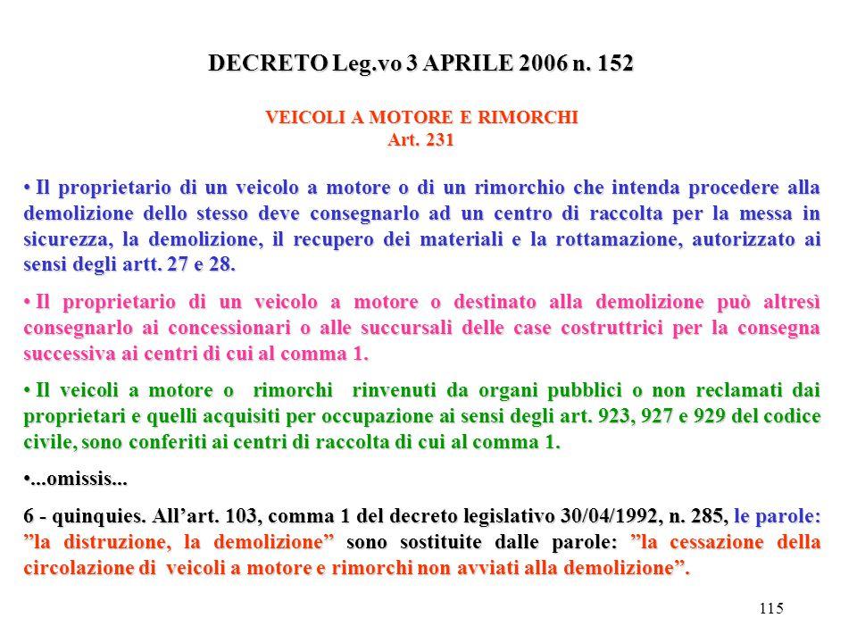 114 DECRETO DEL PRESIDENTE DELLA REPUBBLICA 15/07/2003 N. 254 Art. 8 Deposito temporaneo, deposito preliminare, raccolta e trasporto dei rifiuti sanit