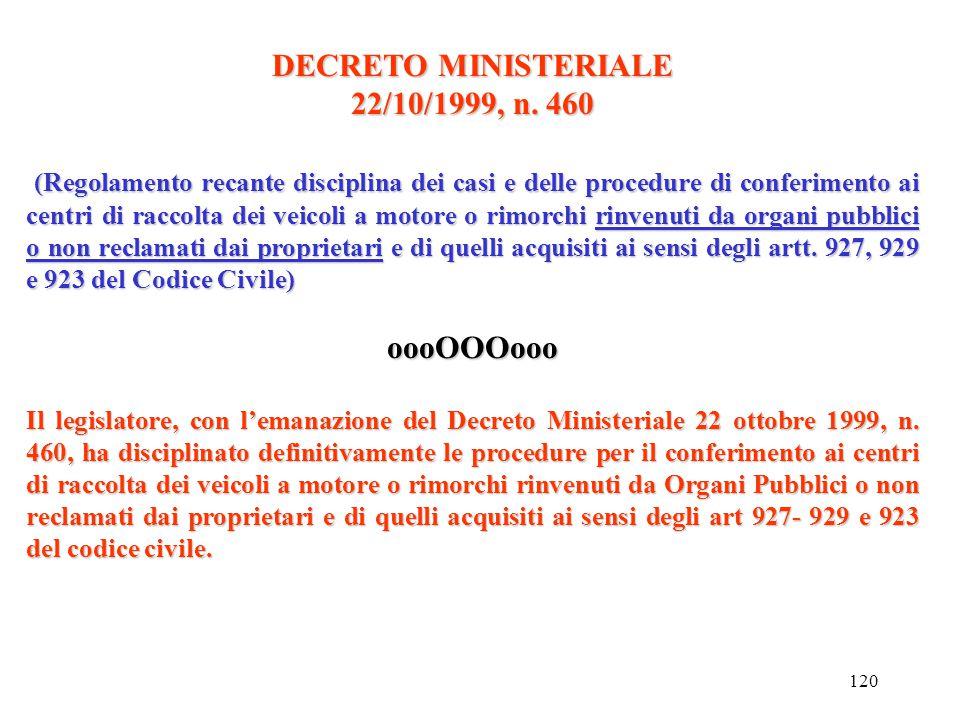 119 DECRETO LEGISLATIVO 24 GIUGNO 2003 n. 209 Art. 3 Definizioni...omissis... Un veicolo è classificato fuori uso ai sensi del comma 1, lett. b): a) c