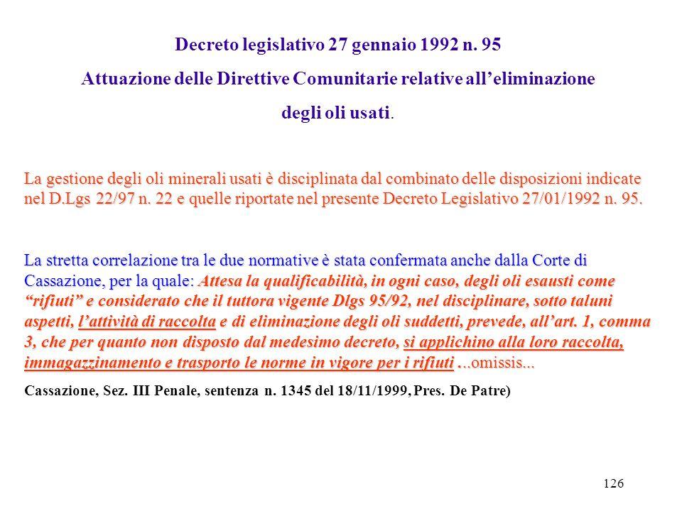 """125 FAX-SIMILE Allegato """"B"""" Formulario di identificazione rifiuto (D.L.vo n. 22 del 5/02/1997 - art. 15Serie e numero............... Numero registro.."""