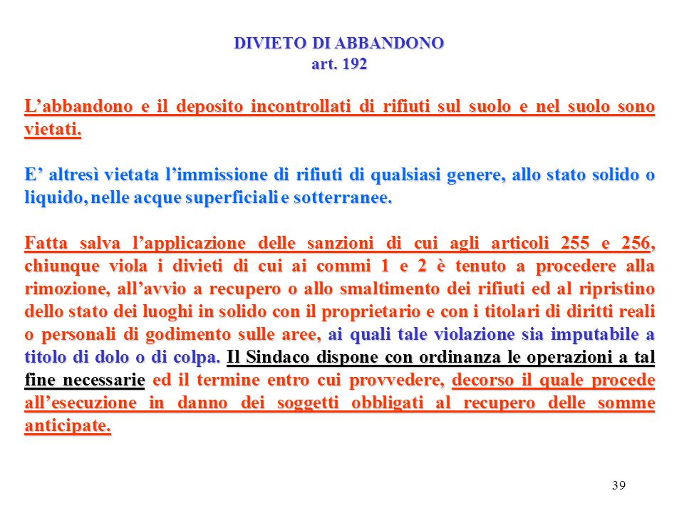 38 Movimento del.................... Formulario n.............. del........... Annotazioni:....................... Codice CER del rifiuto Codice e car