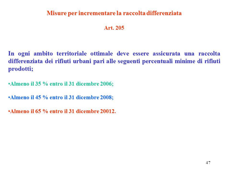 46 Affidamento del servizio Art. 202 L'Autorità d'ambito aggiudica il servizio di gestione integrata dei rifiuti urbani mediante gara disciplinata dai