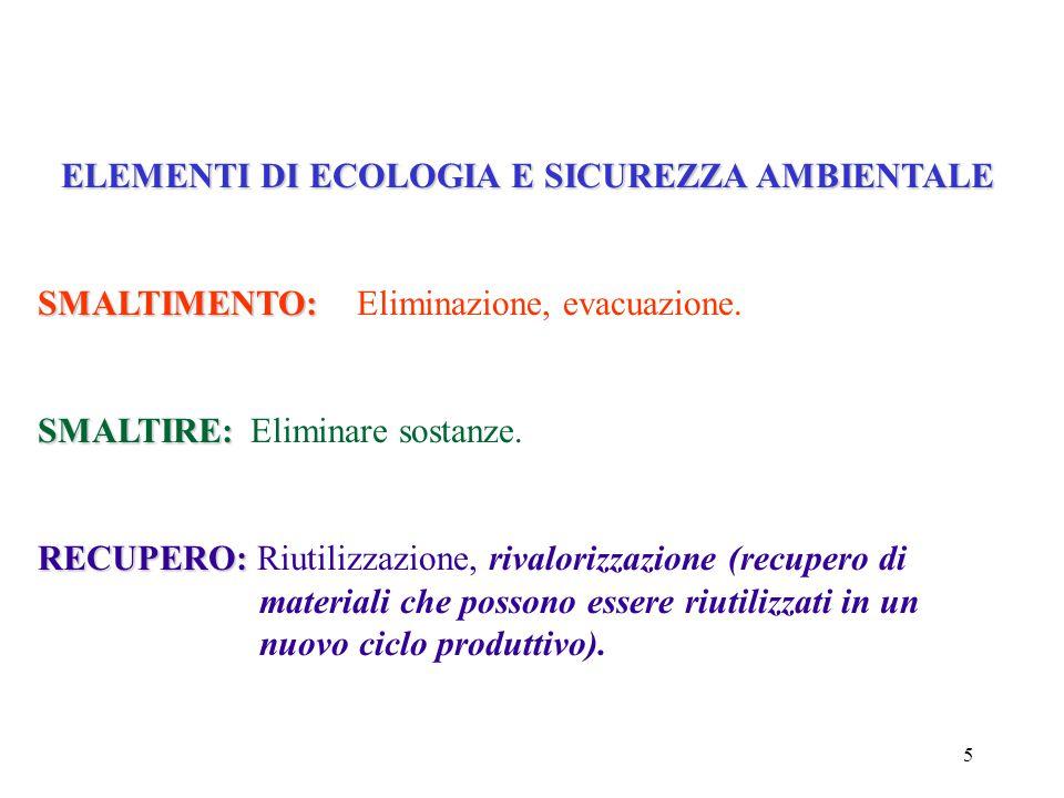 5 SMALTIMENTO: SMALTIMENTO:Eliminazione, evacuazione.
