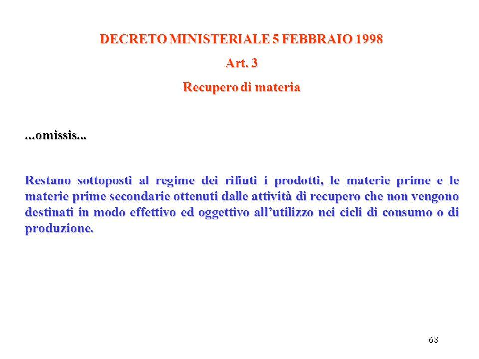 67 DECRETO MINISTERIALE 5 FEBBRAIO 1998 Art. 2 D efinizioni Ai fini dell'applicazione del presente decreto si intende per: a) co-combustione:a) co-com