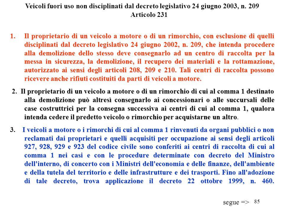 84 Rifiuti derivanti da attività di manutenzione delle infrastrutture Articolo 230 1. Il luogo di produzione dei rifiuti derivanti da attività di manu