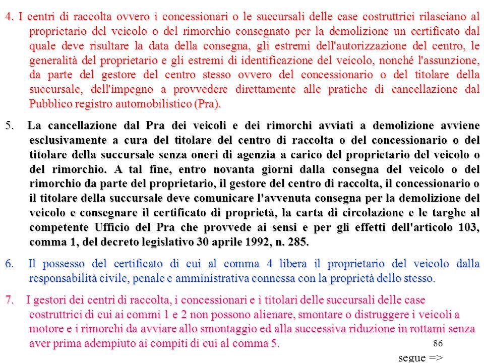 85 Veicoli fuori uso non disciplinati dal decreto legislativo 24 giugno 2003, n. 209 Articolo 231 1.Il proprietario di un veicolo a motore o di un rim