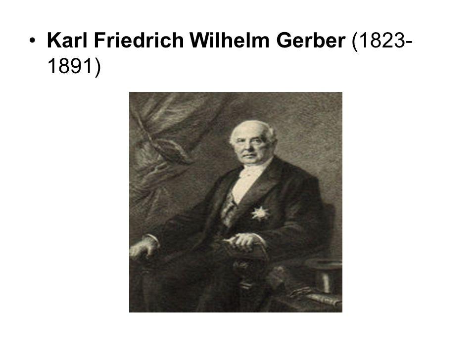 Karl Friedrich Wilhelm Gerber (1823- 1891)