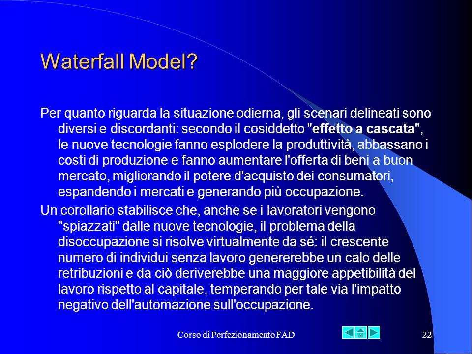 Corso di Perfezionamento FAD22 Waterfall Model.