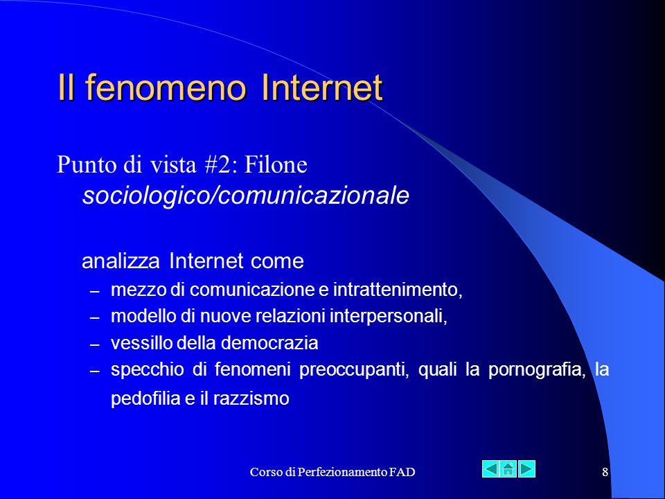 Corso di Perfezionamento FAD19 Fonte: Osservatorio Internet Italia, SDA Bocconi