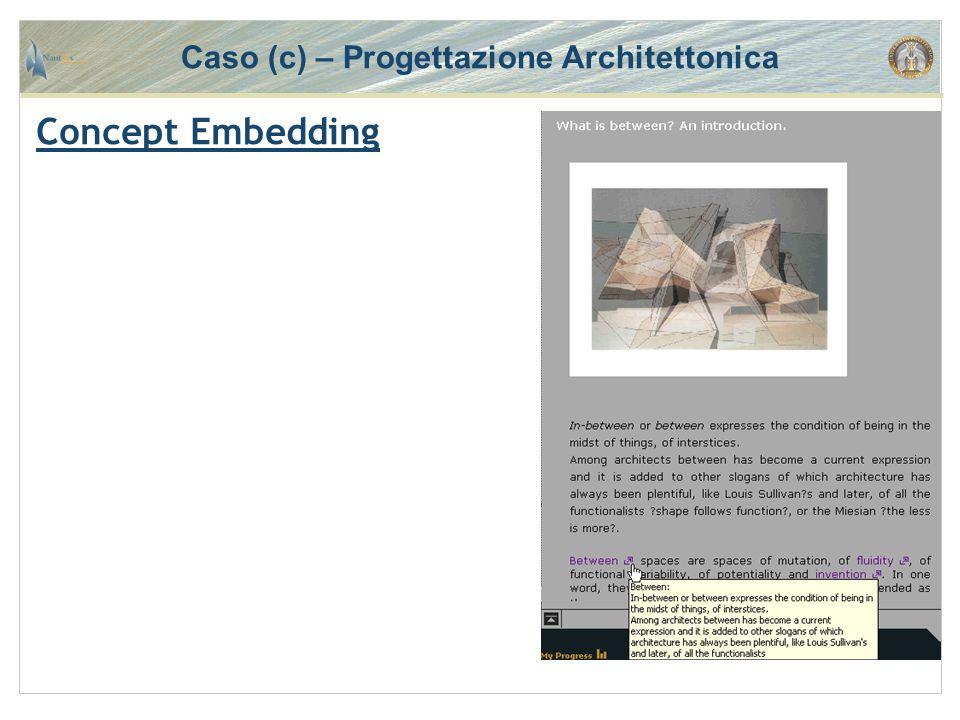 Concept Embedding Caso (c) – Progettazione Architettonica