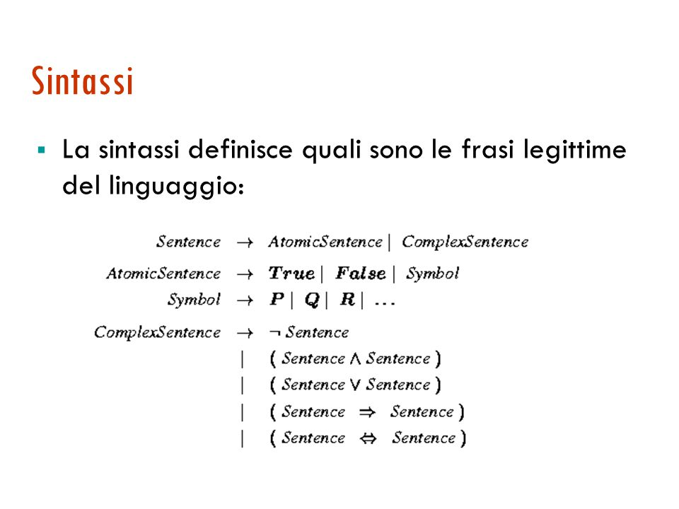 Correttezza e completezza  Correttezza: Se KB |- A allora KB |= A Tutto ciò che è derivabile è conseguenza logica.
