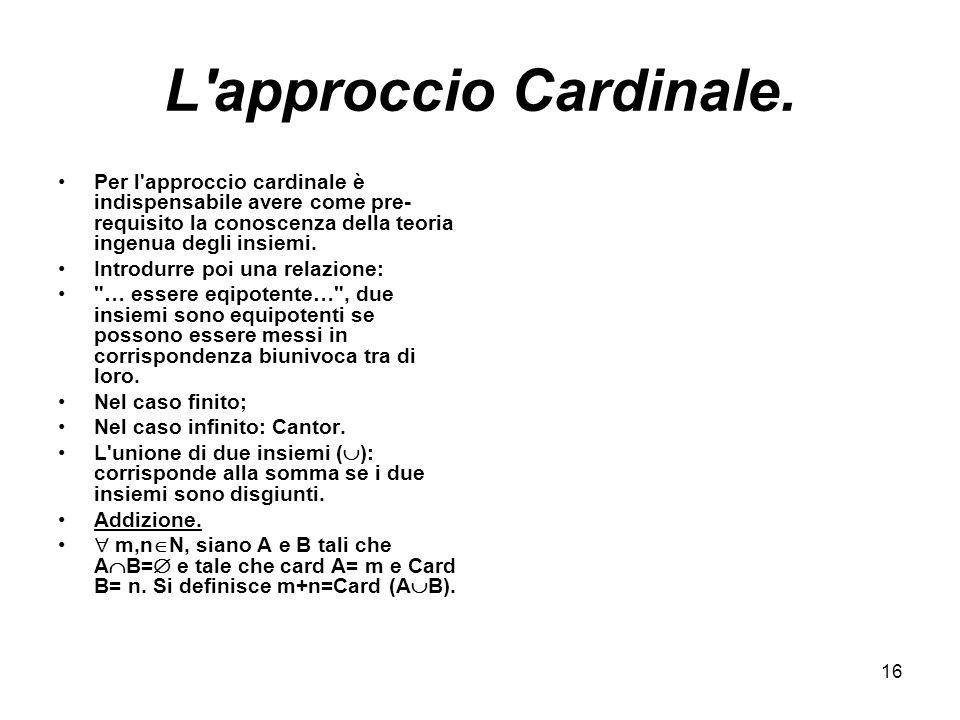 16 L approccio Cardinale.