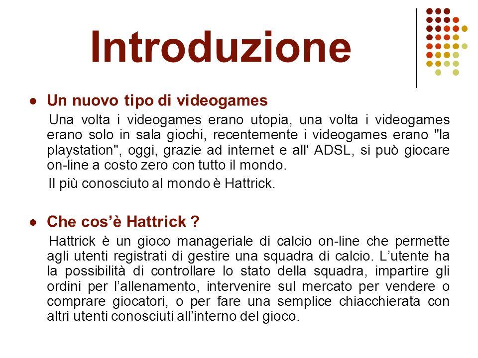 Introduzione Un nuovo tipo di videogames Una volta i videogames erano utopia, una volta i videogames erano solo in sala giochi, recentemente i videogames erano la playstation , oggi, grazie ad internet e all ADSL, si può giocare on-line a costo zero con tutto il mondo.