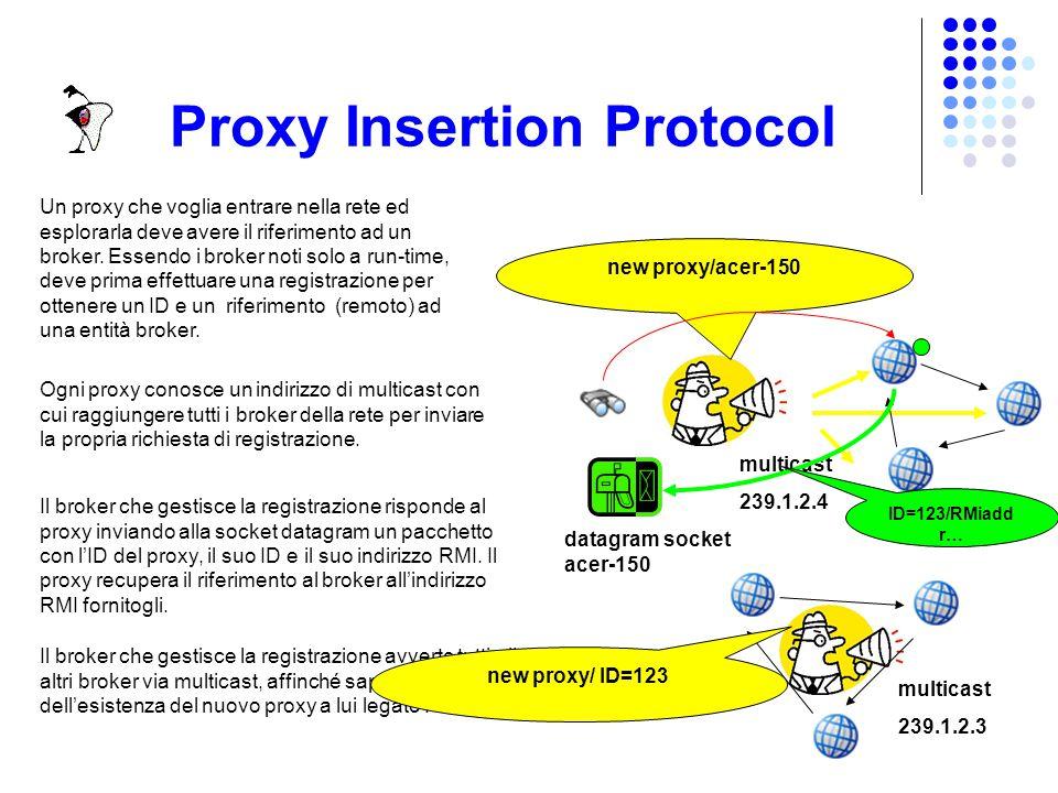Server Insertion Protocol Un server può essere la prima copia del cluster, oppure può inserirsi in un cluster già esistente billing Ogni server conosc