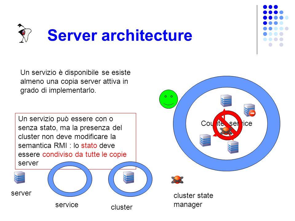 Server I server di JDICS sono oggetti remoti, referenziabili via RMI da applicazioni Java disposte fisicamente su nodi distinti.