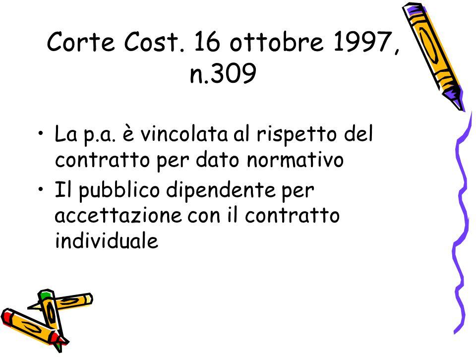 Corte Cost. 16 ottobre 1997, n.309 La p.a.