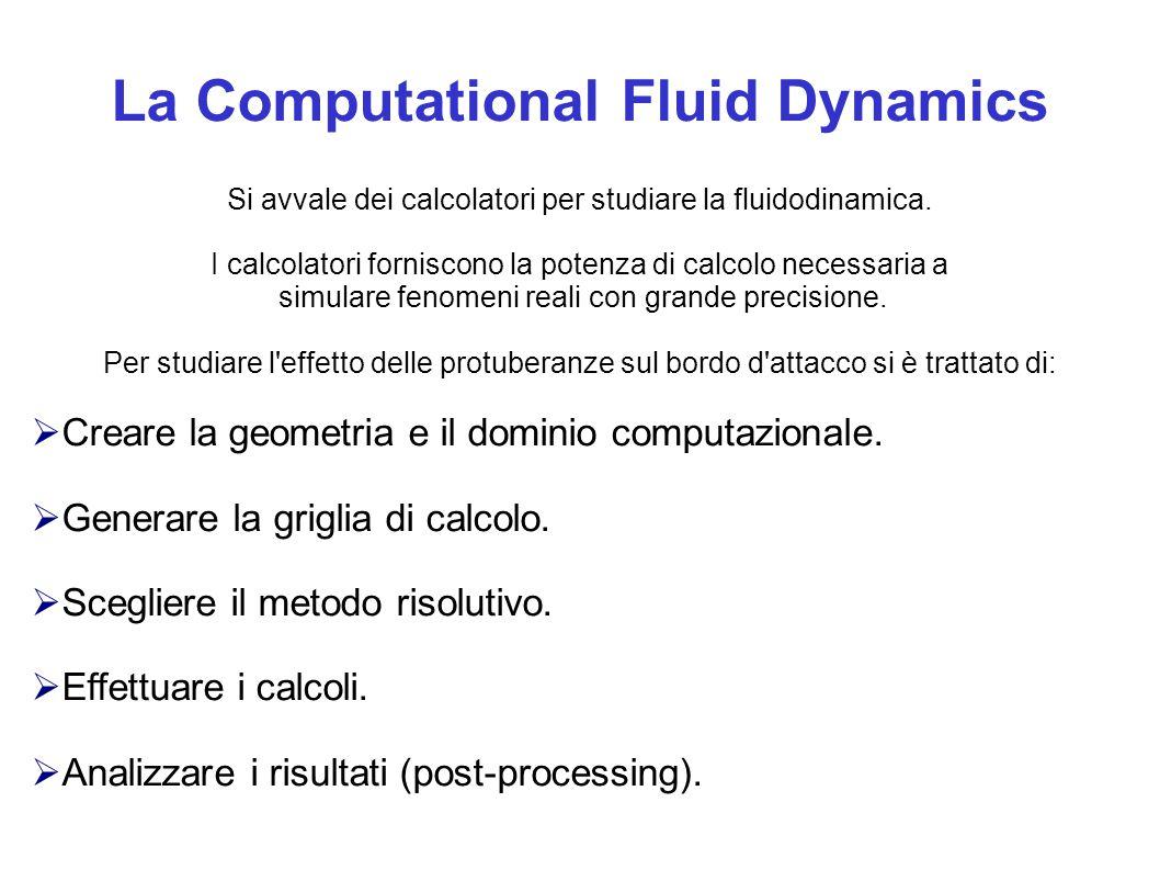 La Computational Fluid Dynamics Si avvale dei calcolatori per studiare la fluidodinamica. I calcolatori forniscono la potenza di calcolo necessaria a