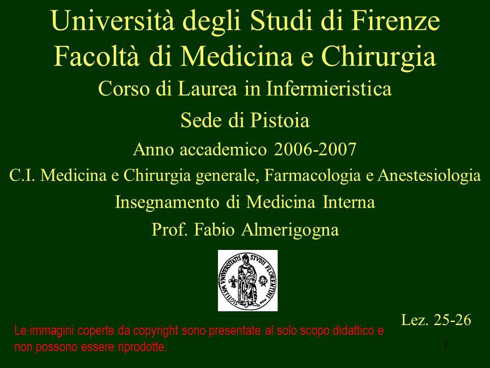 1 Università degli Studi di Firenze Facoltà di Medicina e Chirurgia Lez.