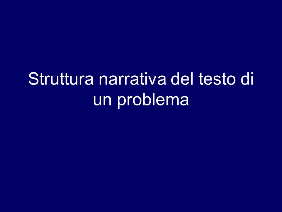 Struttura narrativa del testo di un problema