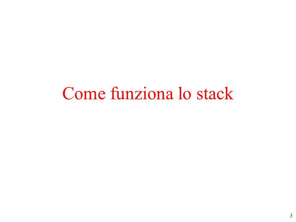 4 Possibile allocazione del codice (parte testo) in RAM RAM 4000 4100 4101 4500 4600 4601 4650 4651 15000 CALL Fun1 main program Fun1 … CALL Fun2 … Fun2 RETURN