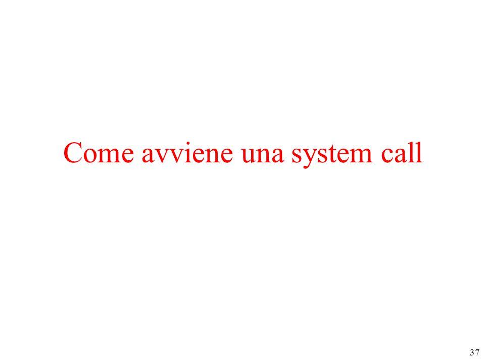 37 Come avviene una system call